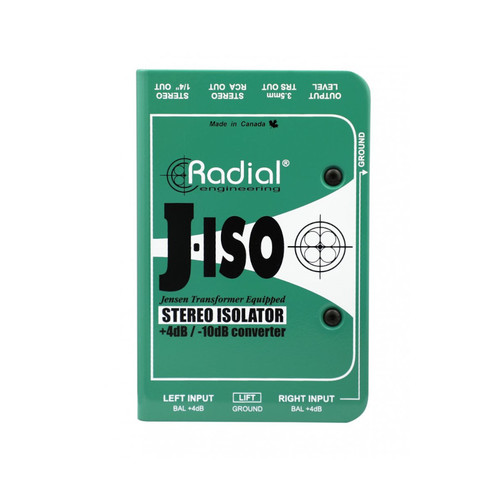 Radial J-Iso Stereo +4dB to -10dB Isolator / Converter