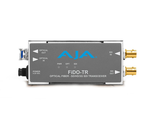 AJA FIDO-TR 1-Channel 3G-SDI/LC Single-Mode LC Fiber Transceiver