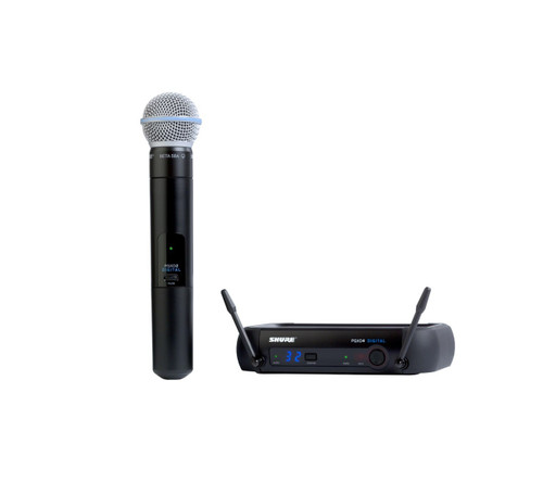 Shure PGXD24/BETA58 Handheld Wireless System with Wireless Handheld Microphone