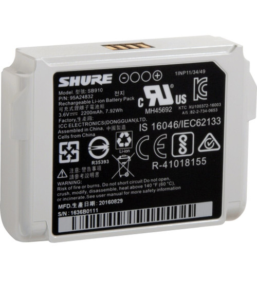 Shure SB910 Lithium-Ion Rechargeable Battery