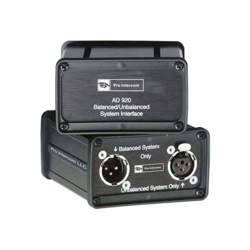 Pro Intercom AD920 Balanced/Unbalanced Interface