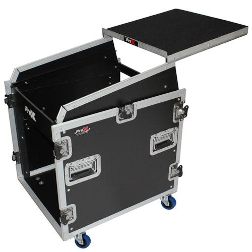 proX T-12MRSS13ULT 12U Rack Front load 13U Top Mixer DJ Combo Flight Case