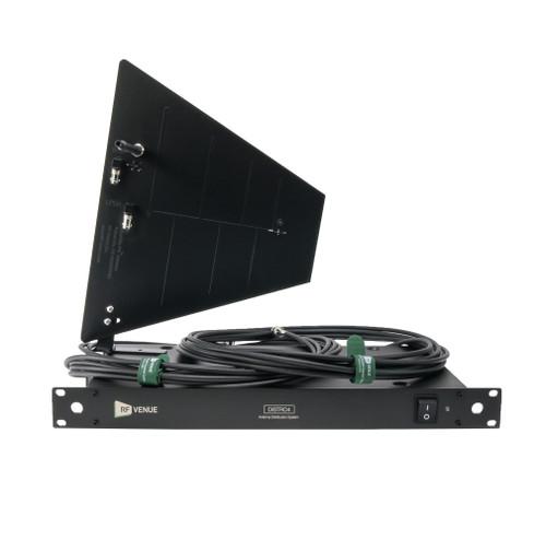 RF Venue DFINBDISTRO4 Distribution System with Antenna, Black