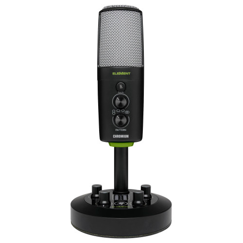 Mackie Chromium USB Condenser Microphone with Mixer Front