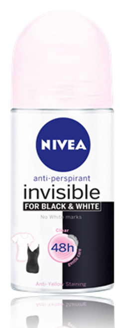 NIVEA Black & White Clear Roll-On (50ml)