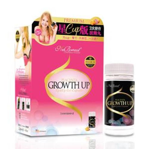 NuBreast+ PREMIUM Placenta Growth Up & Up Gel Capsule (Half-month dosage 60 piece)