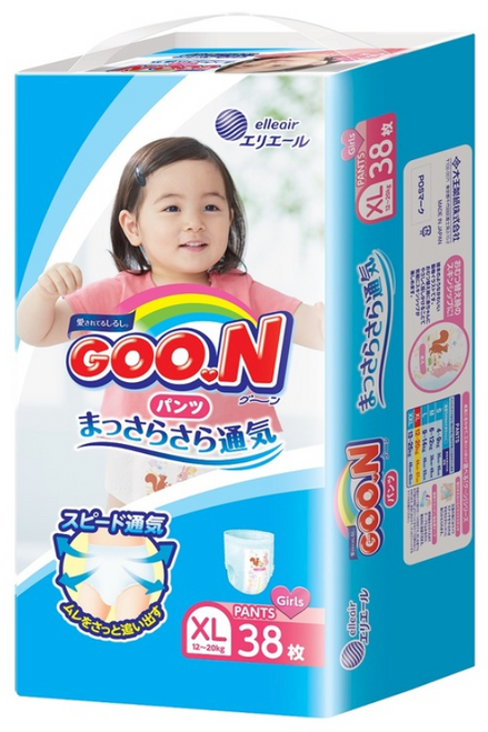 Goo.N Pants XL Girl 38pcs