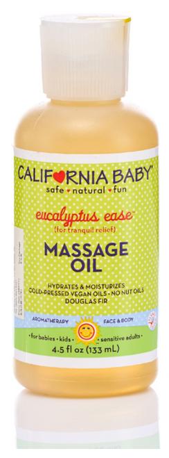 California Baby Eucalyptus Massage Oil 133mL