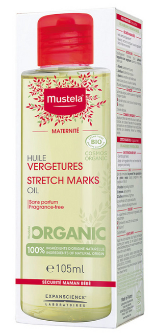 Mustela Maternity organic stretch mark oil 105mL