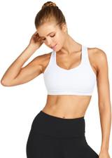 Alexa High Support Crop - White