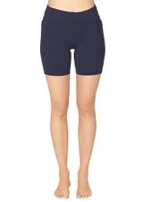 Endurance Dual Pocket Mid-Thigh Tight - Dark Navy