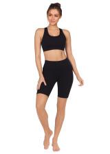 Endurance Dual Pocket Knee Length Tight - Black