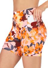 Endurance Dual Pocket Mid-Thigh Tight - Hibiscus Sunset