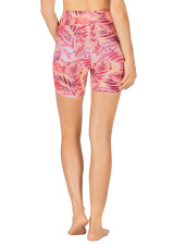 Run Swim Dual Pocket Mid-Thigh Tight - Animal Tropics