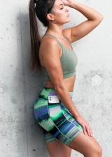Endurance Dual Pocket Mid-Thigh Tight - Brushed Blur