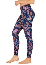 Coloured Paisley Dual Pocket Full Length Tight