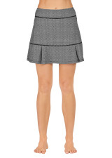 Power Skort - Geo Scallop