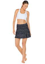 Power Skort-Black-And-White-Geo