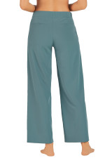 Work Commute Full Length Pant-Blue-Mirage