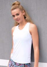 Teen Signature Tie Up Tank-White