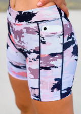 Teen Endurance Dual Pocket Mid-Thigh Tight-Camo