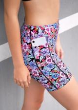 Teen Endurance Dual Pocket Mid-Thigh Tight-Liquid-Bloom
