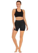 Endurance Dual Pocket Mid-Thigh Tight-Embossed-Black