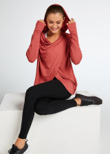 Wrapped Up Hooded Jumper-Autumn-Rose