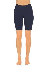Endurance Dual Pocket Knee Length Tight- Deep-Navy
