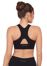 Leo Hi-Tech Sports Bra - Black