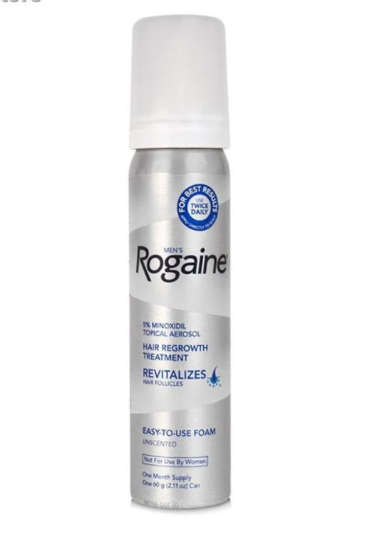 Men's Rogaine 5% Minoxidil Foam for Hair Loss and Hair Regrowth