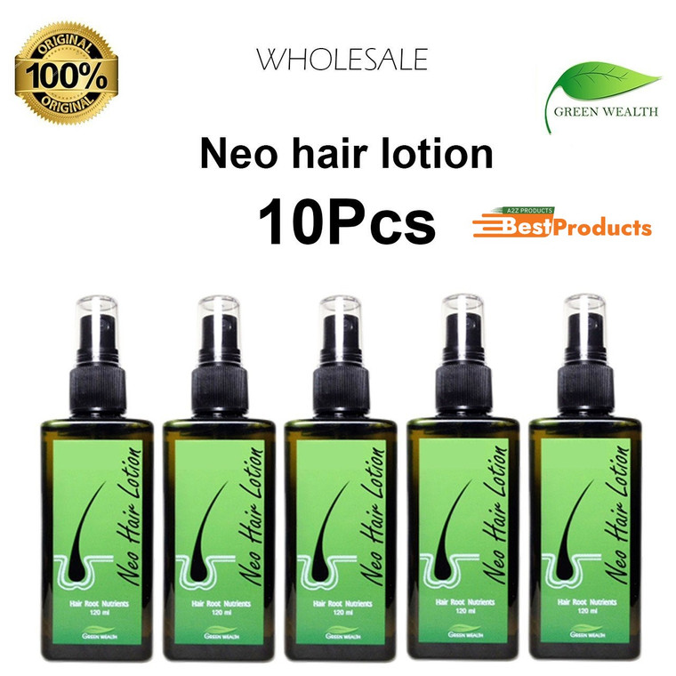 Neo Hair Lotion 120ml 100% Original fast hair growth oil (Pack of 10)