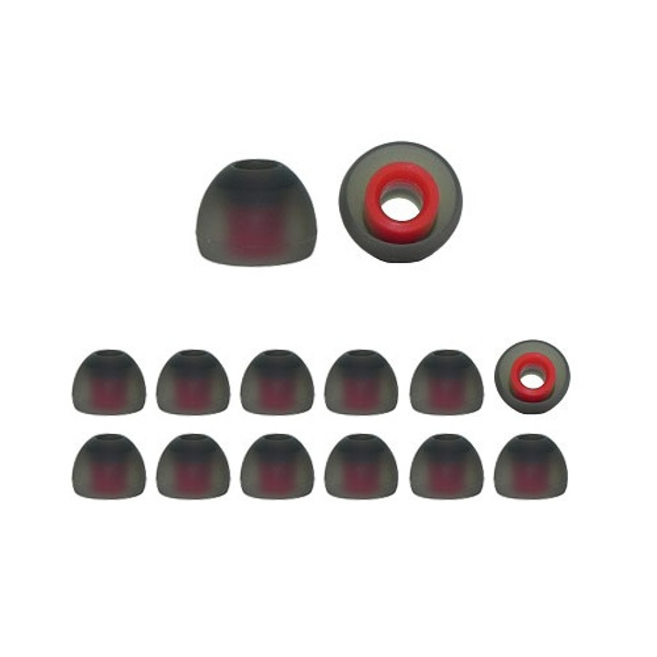 Dual color silicone earbud tips