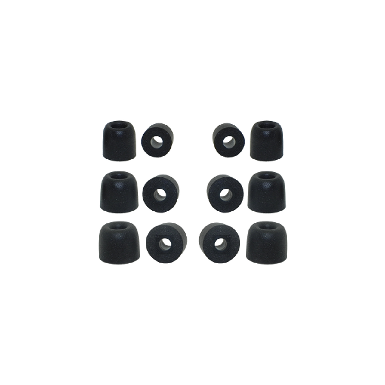 3 pairs Black 3.8mm Triple Flange Replacement Silicone In Ear Tips Earbuds AKG