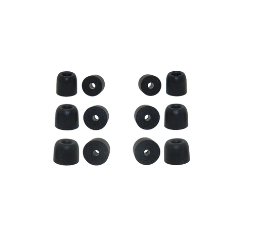 6 pairs of memory foam ear tips comparable with comply foam tips t100