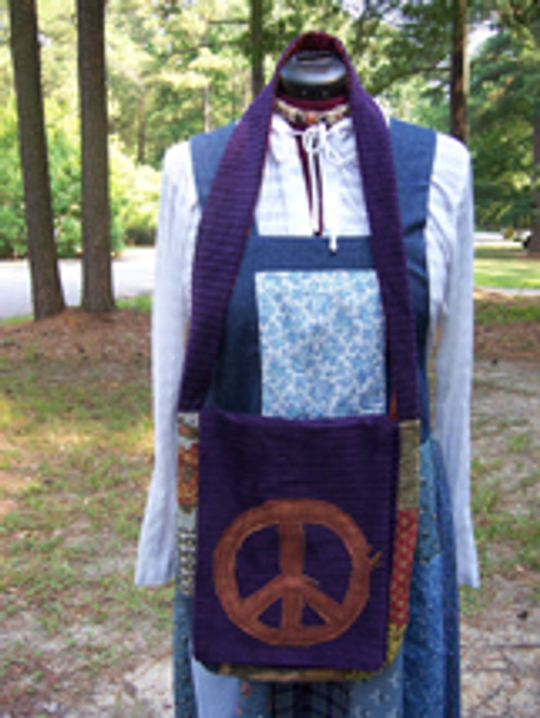 Purple Peace Messenger Bag
