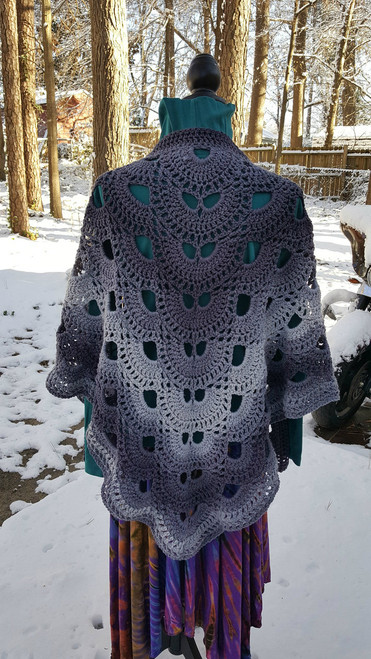 Hippie Shawl Gradient Grays