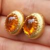 Mandarin Garnet Bianca Earrings