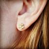 Floral Diamond Stud Earrings, Rose