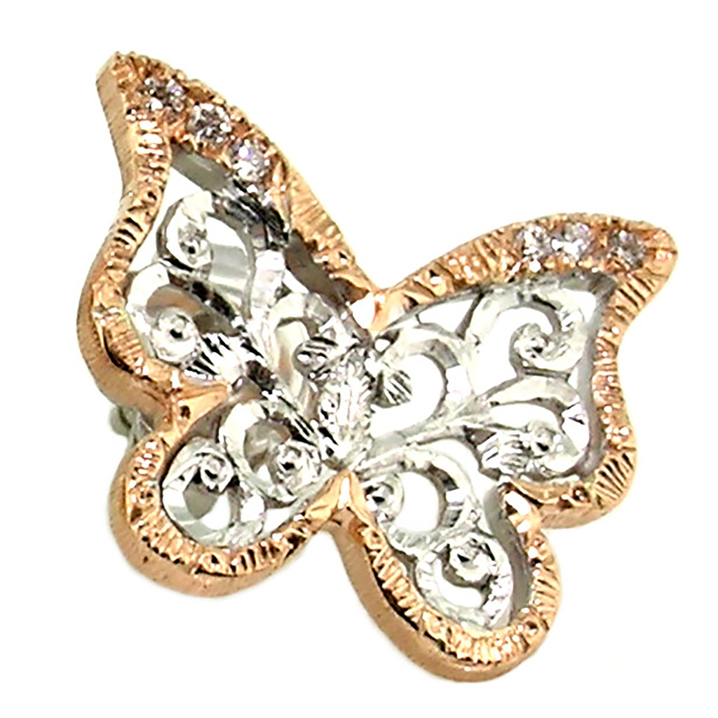 Butterfly Diamond 18kt Earrings made in Florence, Italy for Cynthia Scott Jewelry