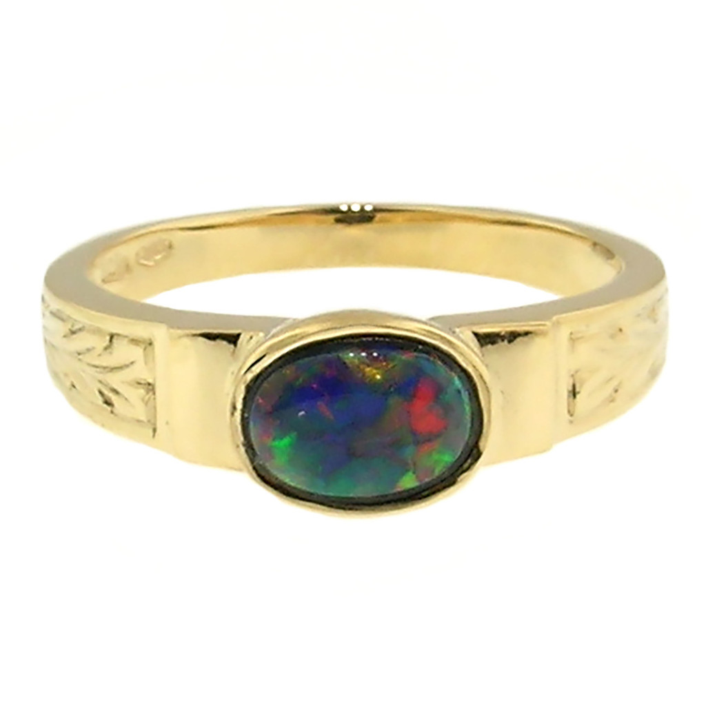 Black Opal 18kt Cassandra Ring made in Florence, Italy for Cynthia Scott Jewelry