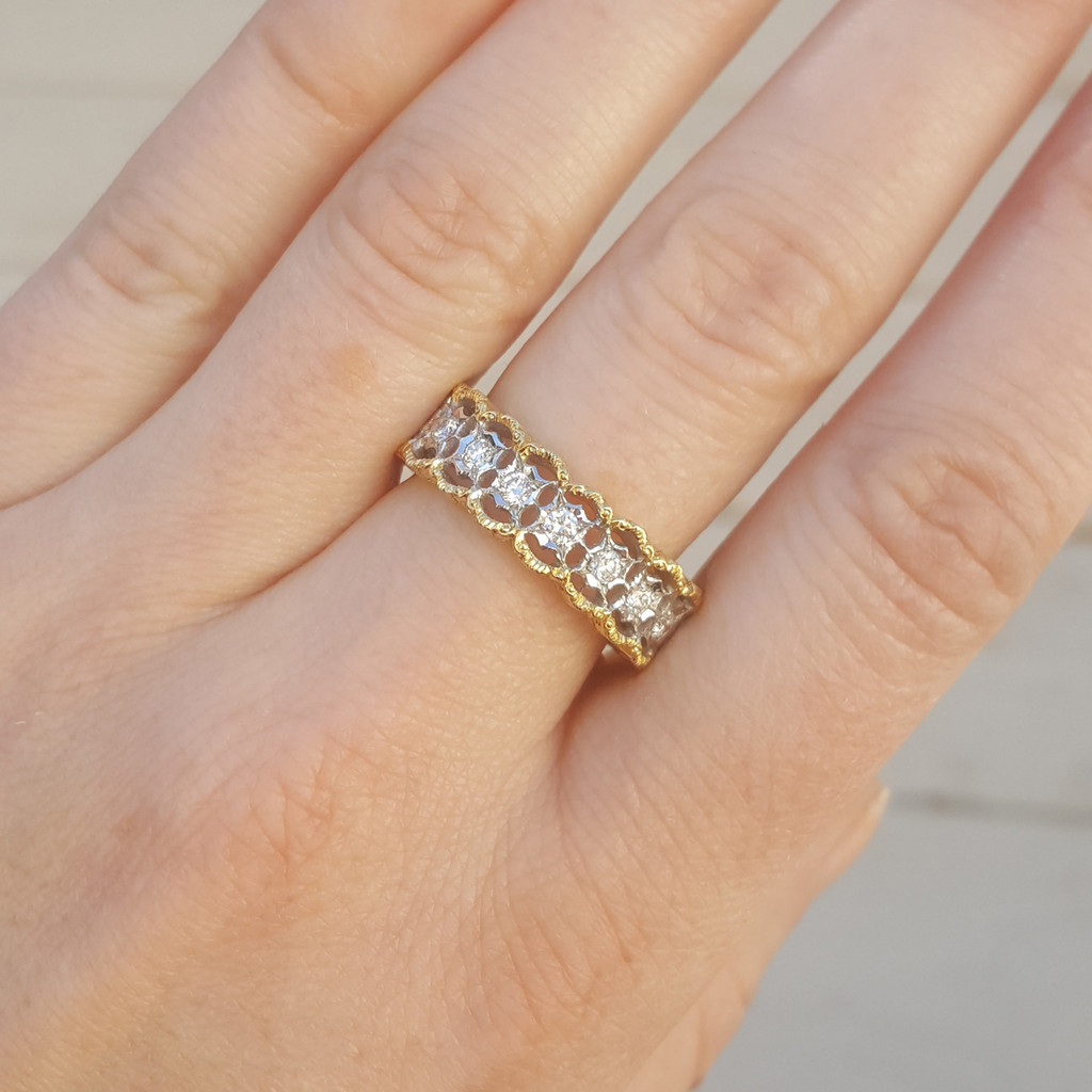 Stefania Diamond 18kt Eternity Band made in Florence Italy for Cynthia Scott Jewelry