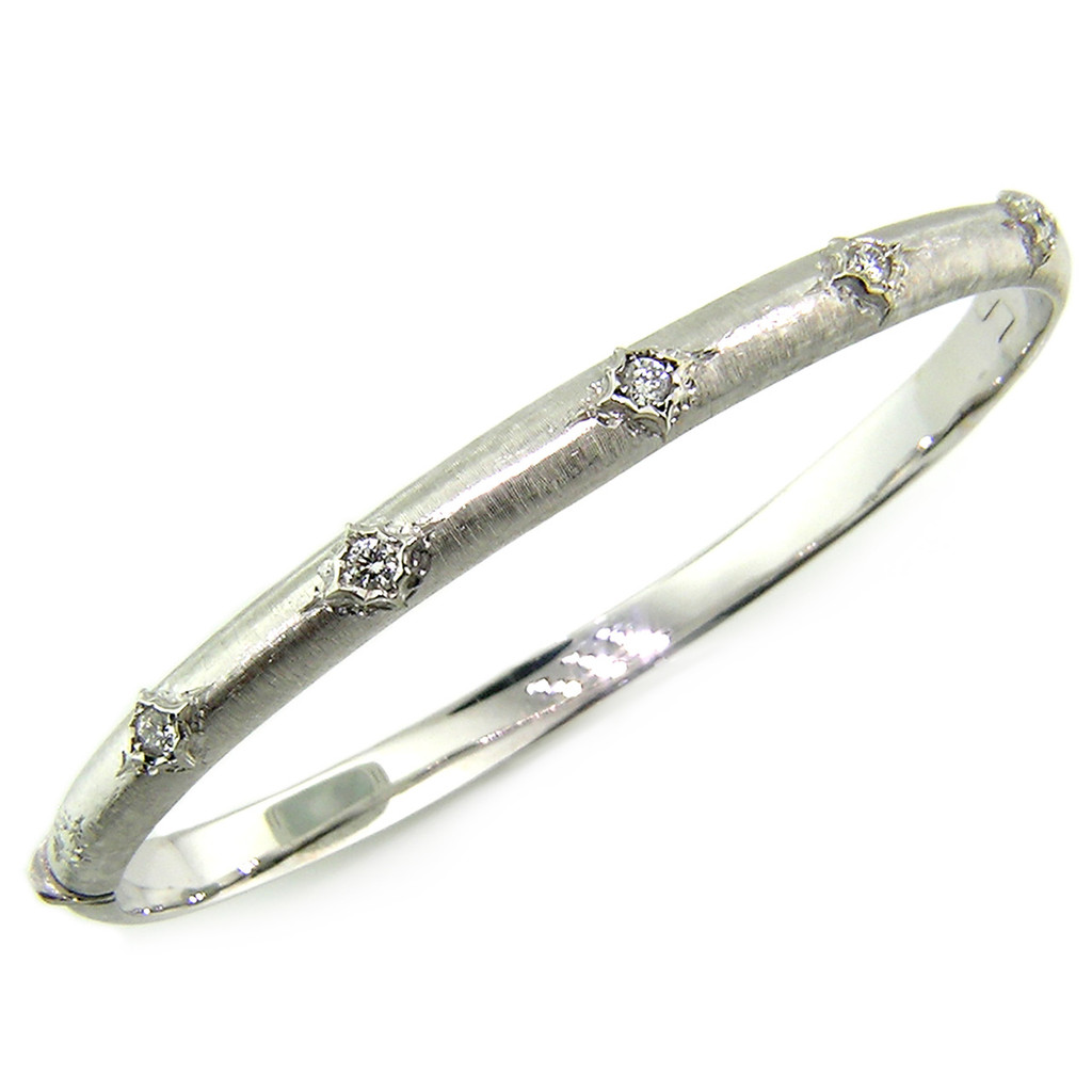 Andrea Diamond and 18kt Bangle, Made in Italy for Cynthia Scott Jewelry