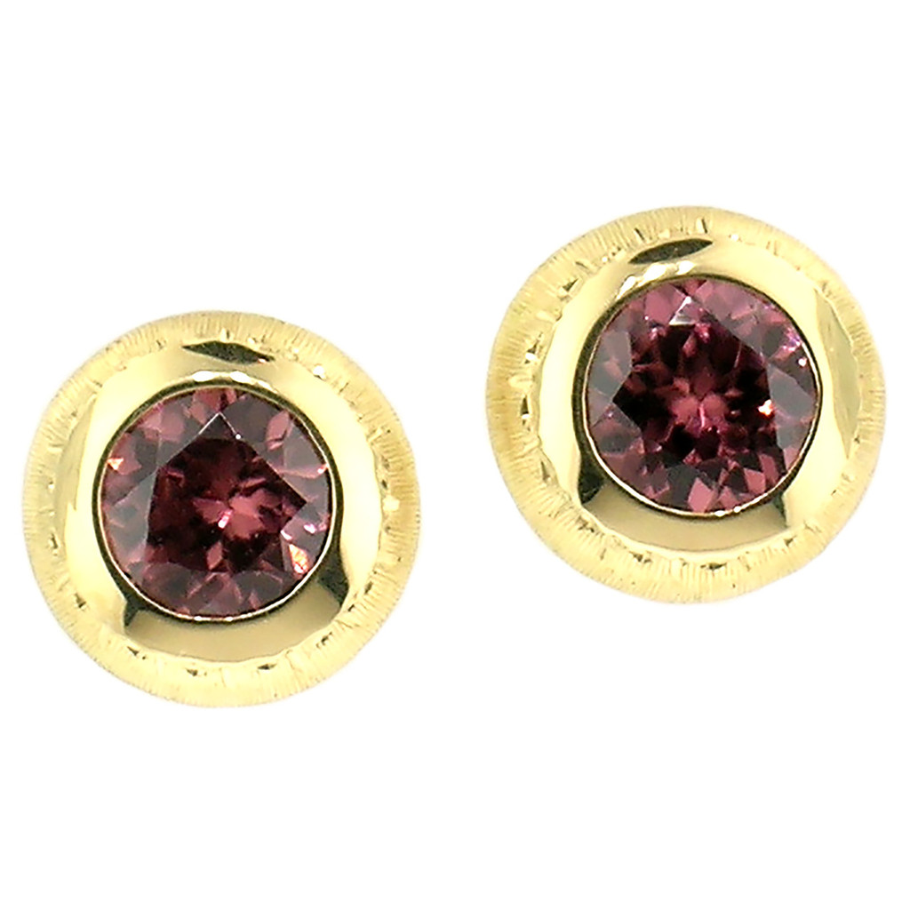 Pink Zircon 18kt Bianca Earrings made in Florence, Italy by Cynthia Scott Jewelry