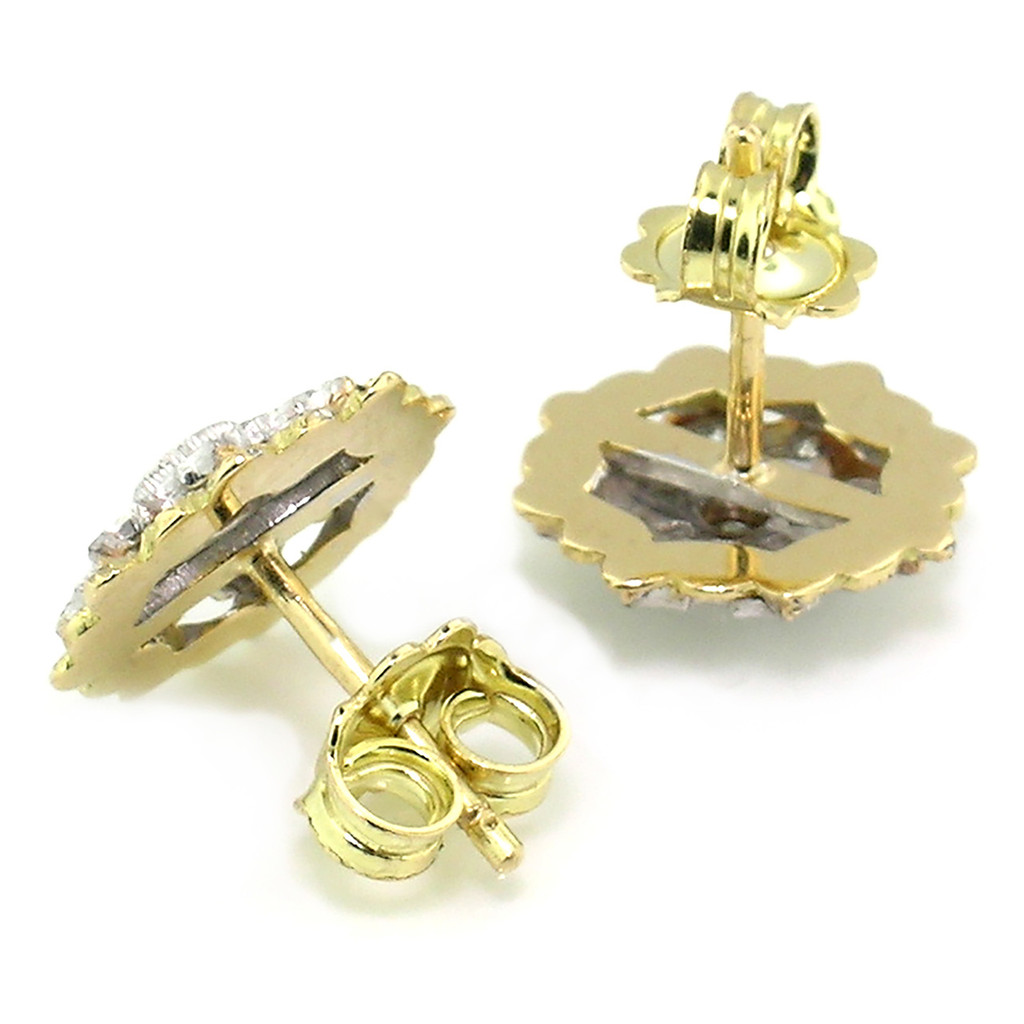 Lucia Diamond 18kt Earrings made in Florence, Italy for Cynthia Scott Jewelry