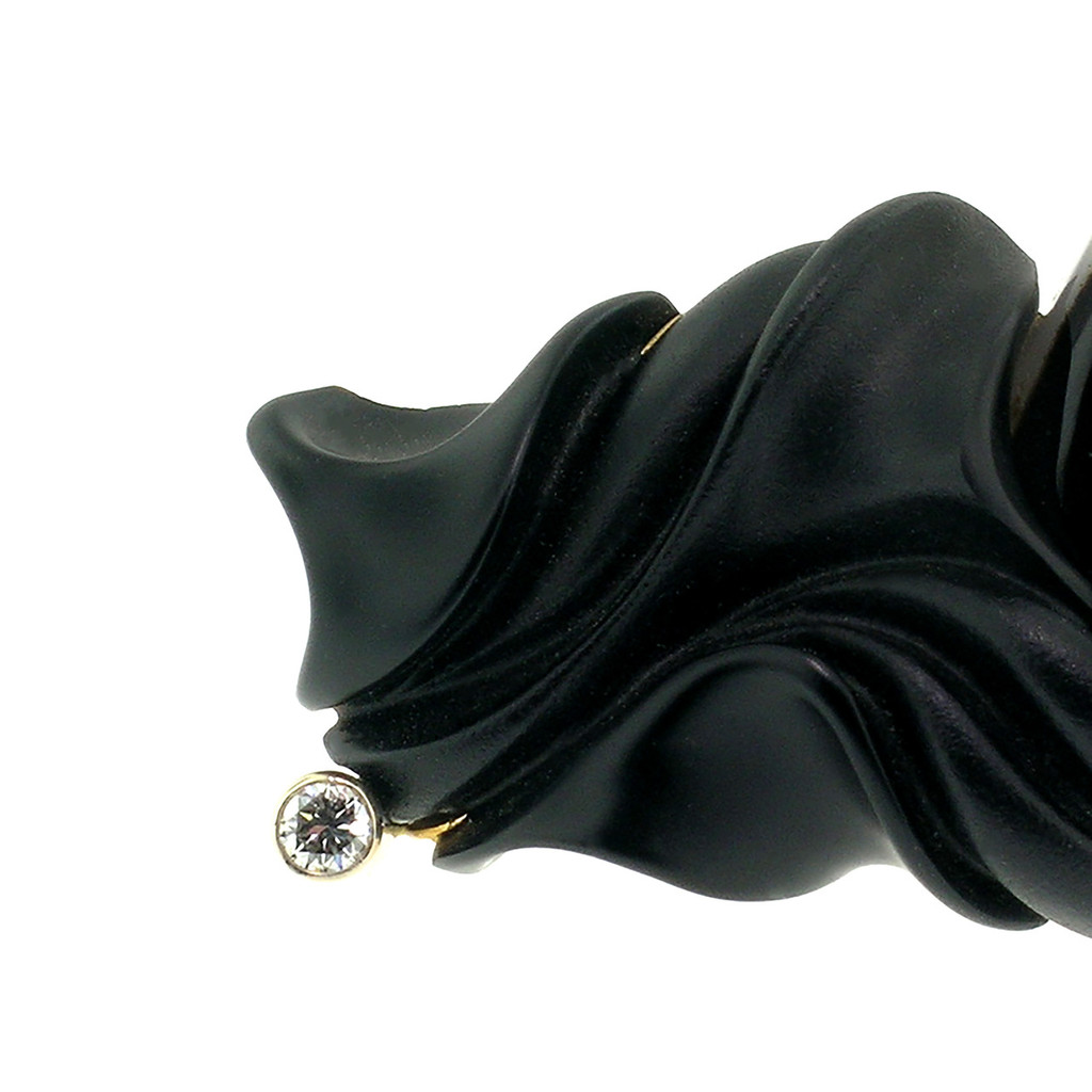 Montana Agate & Steve Walters Carved Chalcedony 18kt Pendant Enhancer & Brooch Pin made in USA for Cynthia Scott Jewelry