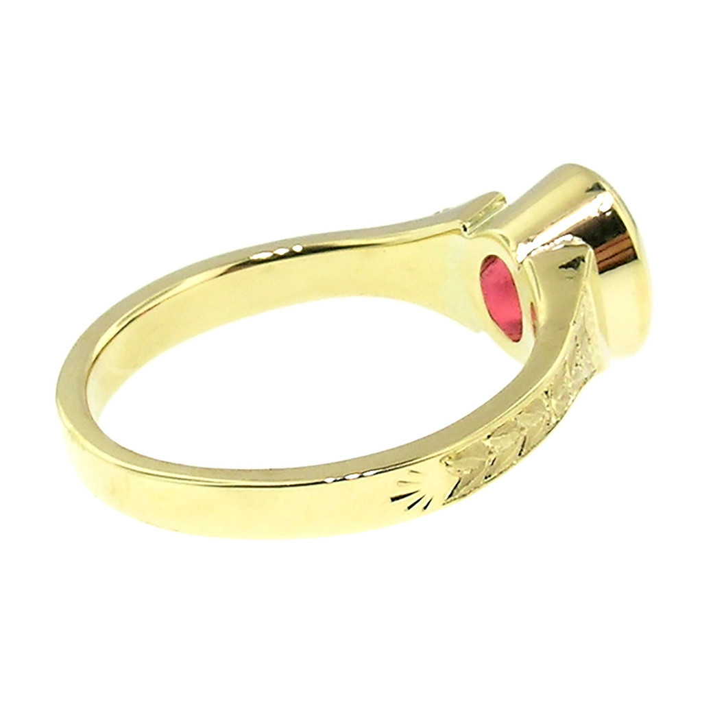 Mahenge Spinel 18kt Cassandra Ring made in USA by Cynthia Scott Jewelry