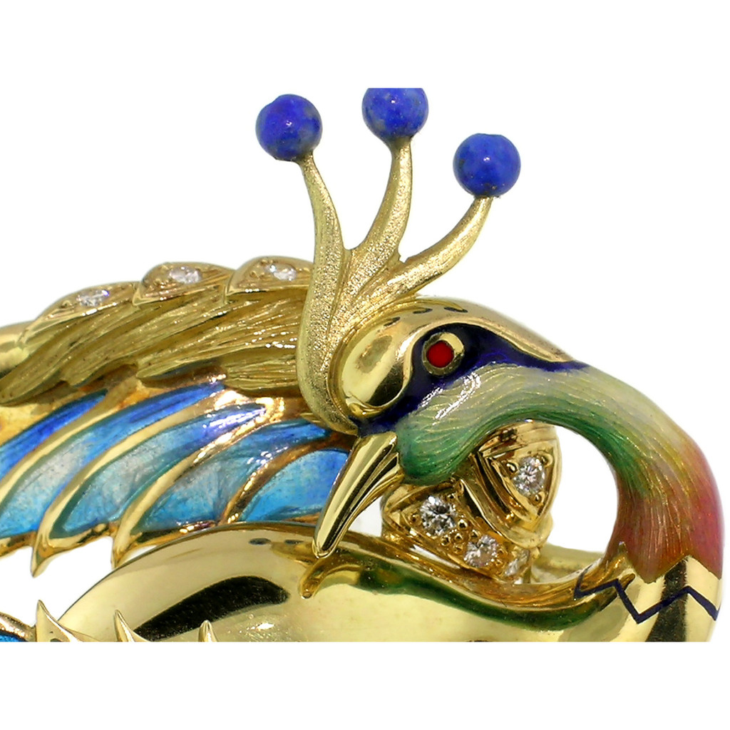 """Bird of Paradise"" 18kt Sculpture Brooch made in Barcelona, Spain by Antoni Farré"