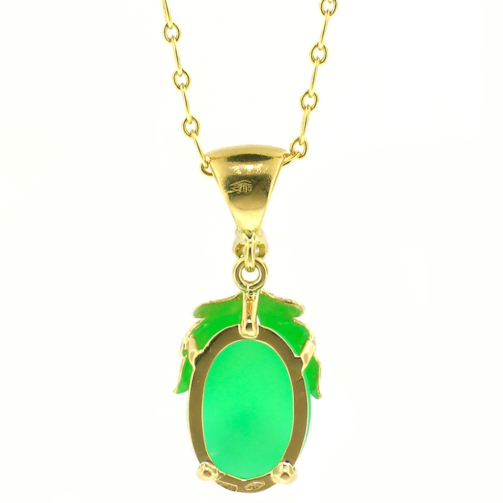 Chrysoprase 18kt Sylvia Pendant made in Florence, Italy by Cynthia Scott Jewelry