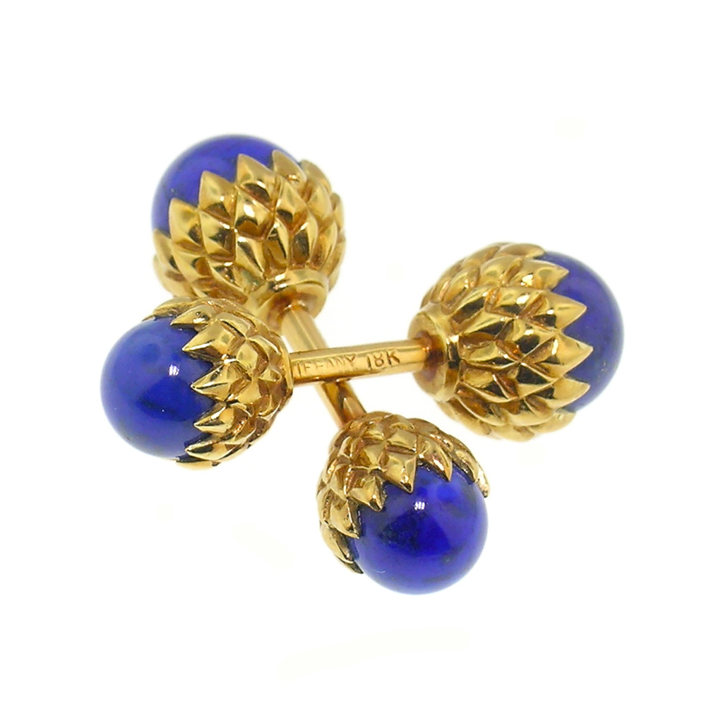 Vintage Acorn Lapis Cufflinks, by Jean Schlumberger for Tiffany & Co.